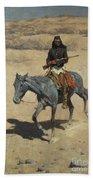 Apache Scout  Beach Towel by Frederic Remington