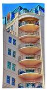 Apartment Building Beach Towel