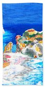 Aphrodite's Birth Place Beach Towel by Augusta Stylianou