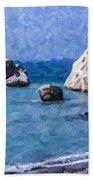 Aphrodites Rock Cyprus Beach Towel