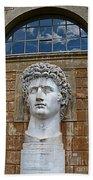 Apollo Statue At The Vatican Beach Towel
