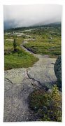 Appalachian Trail Mountain Path Saddleback Maine Beach Towel