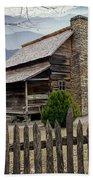 Appalachian Mountain Cabin Beach Towel by Randall Nyhof