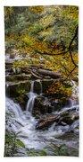 Appalachian Mountain Waterfall Beach Towel
