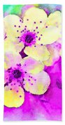 Apple Blossoms In Magenta -  Digital Paint Beach Towel