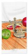 1909 Vintage Apple Peeler Hand Crank Beach Towel