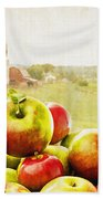 Apple Picking Time Beach Towel by Edward Fielding