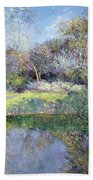 Apple Tree And Crescent Moon Beach Towel