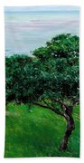 Apple Trees By The Sea Trouville Beach Towel
