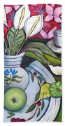 Apples And Lilies Beach Towel