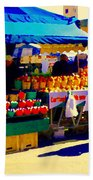 Apples Cortlands Lobos Honey Crisps Mcintosh Atwater Market Apple Fruit Stall Foodart Carole Spandau Beach Towel