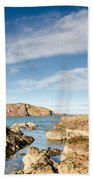 Approach To St Abbs Harbour Beach Towel