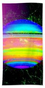 Approaching Saturn From The East Beach Towel