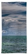 Approaching Storm At Whale Harbor Beach Towel