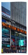 approaching Times Square Beach Towel