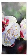 Apricot Flowers Beach Towel