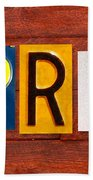April License Plate Name Sign Fun Kid Room Decor Beach Towel