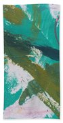 Aqua And Green Beach Towel