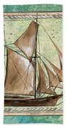 Aqua Maritime 2 Beach Towel by Debbie DeWitt
