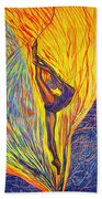 Arabesque Flame Beach Towel