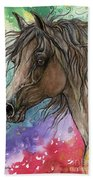 Arabian Horse And Burst Of Colors Beach Towel