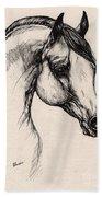 Arabian Horse Drawing 24 Beach Towel