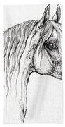 Arabian Horse Drawing 47 Beach Towel