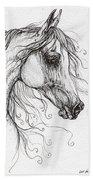 Arabian Horse Drawing 48 Beach Towel