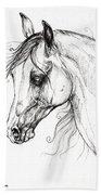 Arabian Horse Drawing 49 Beach Towel