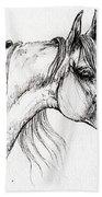 Arabian Horse Drawing 51 Beach Towel