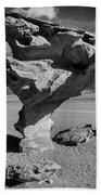 Arbol De Piedra Black And White Framed Beach Towel