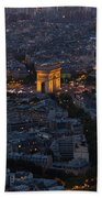 Arc De Triomphe From Above Beach Towel