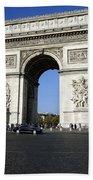 Arc De Triomphe In Paris France Beach Towel