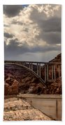 Arch Bridge And Hoover Dam Beach Towel by Robert Bales