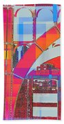Arch Five  - Architecture Of New York City Beach Towel