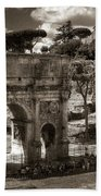 Arch Of Contantine Beach Towel