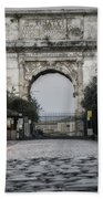 Arch Of Titus Morning Glow Beach Towel