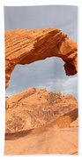 Arch Rock In The Valley Of Fire State Park In Nevada Beach Towel