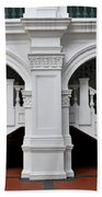 Arch Staircase Balustrade And Columns Beach Towel