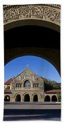 Arch To Memorial Church Stanford California Beach Towel