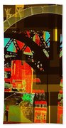 Arch Two - Architecture Of New York City Beach Towel