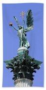 Archangel Gabriel Statue In Budapest Beach Towel