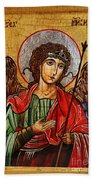 Archangel Michael Icon Beach Towel