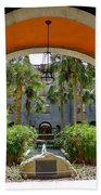 Arched Courtyard Beach Towel
