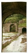 Arched Entrance To Fiesole Theatre Beach Towel