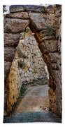 Arched Medieval Gate Beach Towel