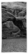 Arches National Park Black And White Beach Towel
