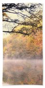 Arching Tree On The Current River Beach Towel