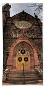 Architecture And Places In The Q.c. Series 01 Trinity Episcopal Church Beach Towel