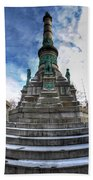 Architecture And Places In The Q.c. Series  Soldiers And Sailors Monument In Lafayette Square Beach Towel